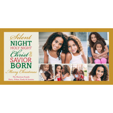 Christmas Photo Cards 4x8 Flat Card Set, 85lb, Card & Stationery -Christmas Silent Night 6 photo