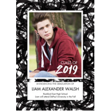 2019 Graduation Announcements 5x7 Cards, Premium Cardstock 120lb with Scalloped Corners, Card & Stationery -Bold Celebration