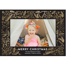 Christmas Photo Cards 5x7 Cards, Premium Cardstock 120lb with Rounded Corners, Card & Stationery -Christmas Festive Border