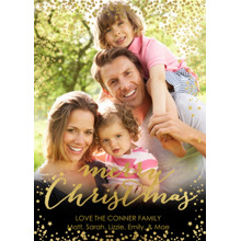 Christmas Photo Cards 5x7 Cards, Premium Cardstock 120lb with Elegant Corners, Card & Stationery -Illustrious Christmas