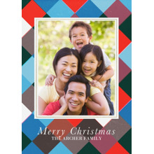 Christmas Photo Cards 5x7 Cards, Premium Cardstock 120lb with Elegant Corners, Card & Stationery -Christmas Patchwork