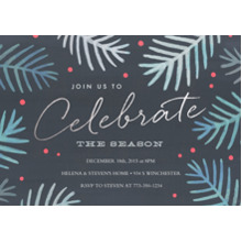 Christmas Party Invitations 5x7 Cards, Premium Cardstock 120lb, Card & Stationery -Celebrate the Season
