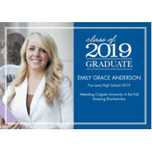2019 Graduation Announcements 5x7 Cards, Premium Cardstock 120lb with Scalloped Corners, Card & Stationery -2019 Graduation Stack by Tumbalina