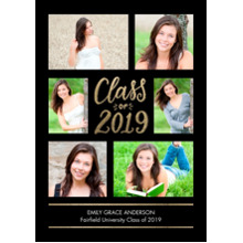 2019 Graduation Announcements 5x7 Cards, Premium Cardstock 120lb with Rounded Corners, Card & Stationery -Grad 2019 Memories by Tumbalina