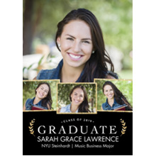 2019 Graduation Announcements 5x7 Cards, Premium Cardstock 120lb with Rounded Corners, Card & Stationery -2019 Grad Snapshots by Tumbalina