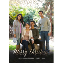 Christmas Photo Cards 5x7 Cards, Premium Cardstock 120lb with Elegant Corners, Card & Stationery -Glittering Christmas