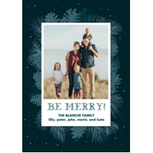 Christmas Photo Cards 5x7 Cards, Premium Cardstock 120lb with Rounded Corners, Card & Stationery -Natural Pine
