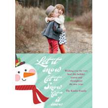 Christmas Photo Cards 5x7 Cards, Premium Cardstock 120lb with Elegant Corners, Card & Stationery -Let it Snow