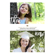 2019 Graduation Announcements 5x7 Cards, Premium Cardstock 120lb with Rounded Corners, Card & Stationery -2019 Grad Then and Now by Tumbalina