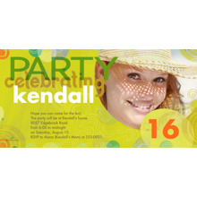 Birthday Party Invites 4x8 Flat Card Set, 85lb, Card & Stationery -Colorful Circles