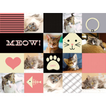 Pets Plush Fleece Blanket, 60x80, Gift -Cat Collage