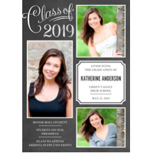 2019 Graduation Announcements 5x7 Cards, Premium Cardstock 120lb with Rounded Corners, Card & Stationery -Class of 2019 Script by Hallmark