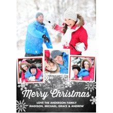 Christmas Photo Cards 5x7 Cards, Premium Cardstock 120lb with Elegant Corners, Card & Stationery -Christmas Rustic Snowy Collage