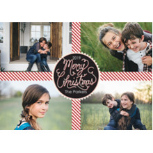 Christmas Photo Cards 5x7 Cards, Premium Cardstock 120lb with Elegant Corners, Card & Stationery -Perfect Present