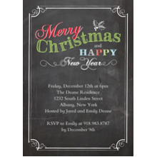 Christmas Party Invitations 5x7 Cards, Standard Cardstock 85lb, Card & Stationery -Christmas Invite Chalkboard