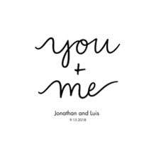 Non-Photo 20x30 Poster, Home Decor -You+Me