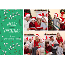 Christmas Photo Cards 5x7 Cards, Premium Cardstock 120lb with Rounded Corners, Card & Stationery -Dancing Christmas Holly