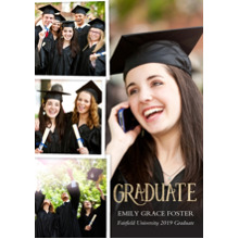2019 Graduation Announcements 5x7 Cards, Premium Cardstock 120lb with Rounded Corners, Card & Stationery -Graduate Collage