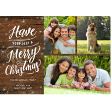 Christmas Photo Cards 5x7 Cards, Premium Cardstock 120lb with Rounded Corners, Card & Stationery -Christmas Sparkling Gold Memories