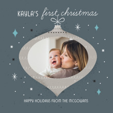 Christmas Photo Cards 5x5 Flat Card Set, 85lb, Card & Stationery -First Christmas