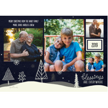Christmas Photo Cards 5x7 Cards, Premium Cardstock 120lb with Scalloped Corners, Card & Stationery -Blessings Are Everywhere