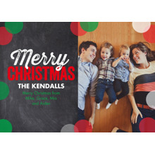 Christmas Photo Cards 5x7 Cards, Premium Cardstock 120lb with Rounded Corners, Card & Stationery -Chalkboard Christmas by Posh Paper