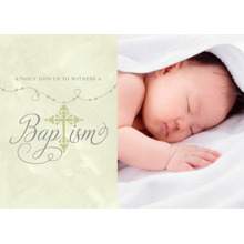 Christening + Baptism 5x7 Folded Cards, Standard Cardstock 85lb, Card & Stationery -Subdued Rosary