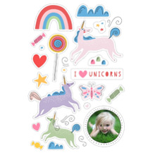 Baby + Kids 24x36 Peel, Stick & Reuse, Home Decor -I Love Unicorns