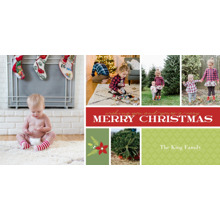 Christmas Photo Cards 4x8 Flat Card Set, 85lb, Card & Stationery -Holiday Bouquet