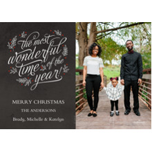 Christmas Photo Cards 5x7 Cards, Premium Cardstock 120lb with Rounded Corners, Card & Stationery -Wonderful Year Chalkboard