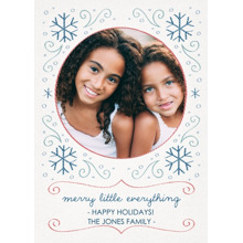 Christmas Photo Cards 5x7 Cards, Premium Cardstock 120lb with Elegant Corners, Card & Stationery -Hand-stitched Holiday
