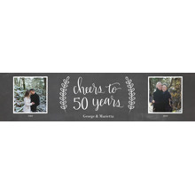 Anniversary 2x8 Peel, Stick & Reuse Banner, Home Decor -Chalkboard Anniversary