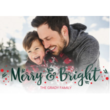 Christmas Photo Cards 5x7 Cards, Premium Cardstock 120lb with Rounded Corners, Card & Stationery -Merry And Bright Sprigs