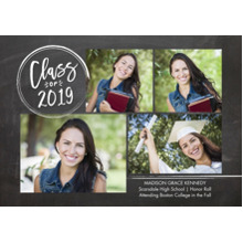 2019 Graduation Announcements 5x7 Cards, Premium Cardstock 120lb with Rounded Corners, Card & Stationery -2019 Grad Stamp by Tumbalina