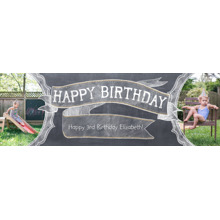 Birthday 1x3 Peel, Stick & Reuse Banner, Home Decor -Chalkboard Celebration