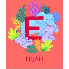 Non Photo Sherpa Blanket, Gift -Animal Monogram E