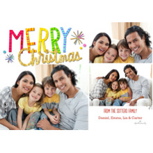 Christmas Photo Cards 5x7 Cards, Premium Cardstock 120lb with Elegant Corners, Card & Stationery -Colorful and Bright Christmas