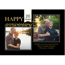 Anniversary Invitations 5x7 Cards, Premium Cardstock 120lb, Card & Stationery -Anniversary Banner Flag