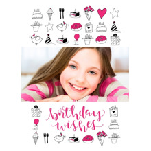 Birthday Greeting Cards 5x7 Folded Cards, Standard Cardstock 85lb, Card & Stationery -Sweet Birthday Wishes