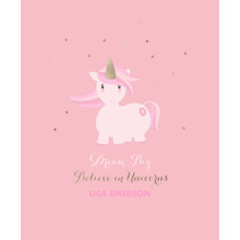Baby + Kids Framed Canvas Print, Black, 11x14, Home Decor -Unicorn Magic