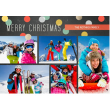 Christmas Photo Cards 5x7 Cards, Premium Cardstock 120lb with Rounded Corners, Card & Stationery -Retro Confetti
