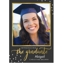 2019 Graduation Announcements 5x7 Cards, Premium Cardstock 120lb with Rounded Corners, Card & Stationery -Introducing the Graduate Confetti