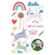 Baby + Kids 12x18 Peel, Stick & Reuse, Home Decor -I Love Unicorns