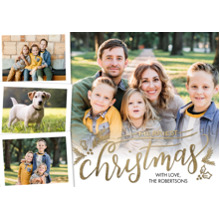 Christmas Photo Cards 5x7 Cards, Premium Cardstock 120lb with Scalloped Corners, Card & Stationery -Christmas Merriest by Tumbalina