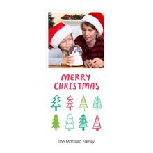 Christmas Photo Cards 4x8 Flat Card Set, 85lb, Card & Stationery -Festive Trees