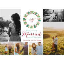 Christmas Photo Cards 5x7 Cards, Premium Cardstock 120lb with Elegant Corners, Card & Stationery -Married Little Christmas