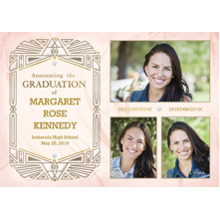 2019 Graduation Announcements 5x7 Cards, Premium Cardstock 120lb with Rounded Corners, Card & Stationery -Intricate Geometric Announcement