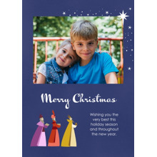 Christmas Photo Cards 5x7 Cards, Premium Cardstock 120lb with Elegant Corners, Card & Stationery -Majestic Kings
