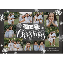 Christmas Photo Cards 5x7 Cards, Premium Cardstock 120lb with Scalloped Corners, Card & Stationery -Christmas Banner by Tumbalina