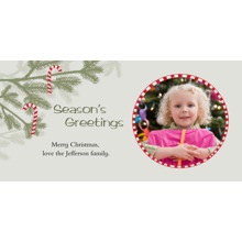Christmas Photo Cards 4x8 Flat Card Set, 85lb, Card & Stationery -Candy Cane Ornaments